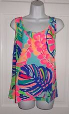 NWT LILLY PULITZER MULTI EXOTIC GARDEN COSMOS SILK TOP L XL