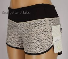 NEW LULULEMON Run Speed Short 4 6 8 10 Dottie Dash Grain Black NWT Gym FREE SHIP