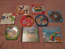 LOT OF 9 PC CD-ROM CHILDREN GAMES ALL DIFFERENT USED