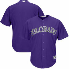 Colorado Rockies Majestic Men's Official Cool Base Team Jersey Baseball - Purple