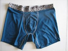 NWT Men's REEBOK Performance Athletic Boxer Brief Underwear Stay Cool Teal Gray