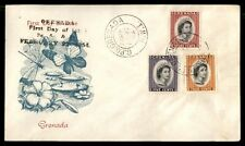 Grenada QEII 3 Color Franking 1954 Butterfly First Day Cover FDC