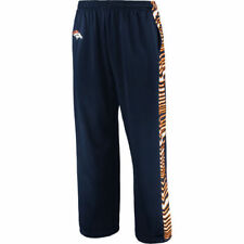 Denver Broncos Zubaz Stadium Pants - Navy/Orange - NFL