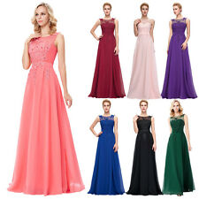 LACE Applique 2017 Long Evening Party Prom Gown Formal Bridesmaid COCKTAIL Dress