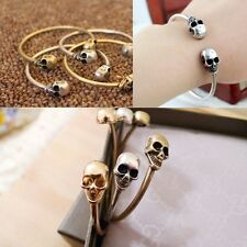 Alloy Metal Retro Jewelry Cool Cuff Gothic Rock Bangle Bracelet Skeleton Skull