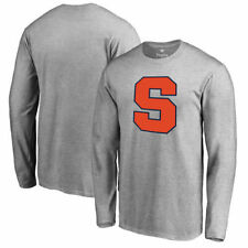 Syracuse Orange Fanatics Branded Primary Logo Long Sleeve T-Shirt - Ash - NCAA
