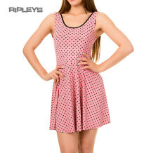 BANNED Ladies Summer Skater Dress JAX   PINK Polka Dot All Sizes