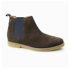 Base London FERDINAND Mens Casual Soft Suede Leather Pull On Chelsea Boots Brown