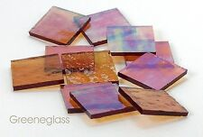 Amber Cathedral RR Iridized Mosaic Glass Tile  Cut to Order Shapes * Package