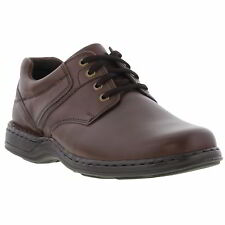 Hush Puppies Bennett Mens Brown Leather Shoes Size UK 8-12