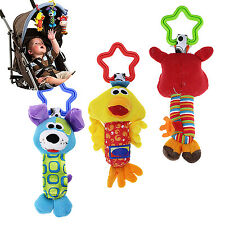 Fad Kids Baby Soft Animal Handbells Rattles Bed Stroller Bells Developmental Toy