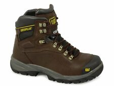 Caterpillar DIAGNOSTIC Safety Steel Toe Anti-Scuff Cap Work Boots Oak Brown NEW