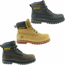 MENS CATERPILLAR SAFETY WORK BOOT SIZE UK 6 - 13 CAT BLACK BROWN HONEY HOLTON KD