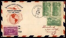 Washington Dc May 21 1938 National Air Mail Week FFC 20Th Anniv Cachet On Cover