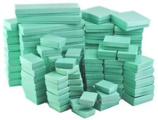 LOT of 20~50~100~500Pcs GREEN TEAL JEWELRY BOXES GREEN COTTON FILLED GIFT BOXES