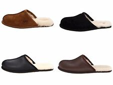 Ugg Australia Scuff Men's Slippers Black Chestnut Stout Brown Suede / Leather