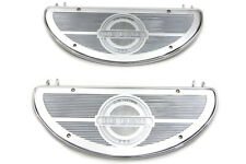 Chrome Replica Driver Half Moon Footboard Set,for Harley Davidson motorcycles...