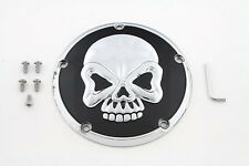 Skull Design 5 Hole Derby Cover Chrome,for Harley Davidson motorcycles,by V-Twin