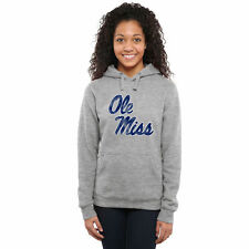 Ole Miss Rebels Women's Classic Primary Pullover Hoodie - Ash - - NCAA