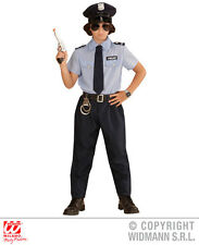 Boys Kids Police officer Man Outfit for Cop SWAT FBI Fancy Dress Costume