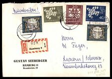 Hamburg Germany Commercial Registered Cover Colorful Franking
