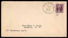MUNNSVILLE NEW YORK MAR 10 1936 SINGLE FRANKED COVER TO CATSKILL