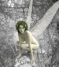 Thorns Evil Fairy mushroom Gothic nude elf girl Erotic Fantasy fine Art 8x10 LTD
