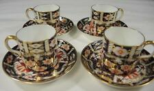 Four 1914 Royal Crown Derby Demitasse Cups & Saucers #2451