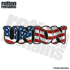 Union Decal American Flag USA United States Vinyl Hard Hat Sticker C7X