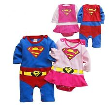 Superman Supergirl Costume Baby Toddler Christmas Party Bodysuit Outfit Clothes