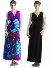 New Japanese Weekend Maternity Reversible 2-in-1 Black Maxi Dress XS 2 4 & S 6 8
