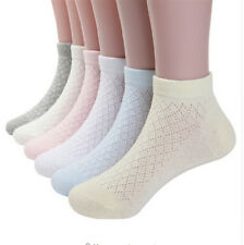 5pairs mesh cotton ankle socks for baby girls cozy breathable kids short socks