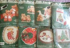 CHOOSE ONE DALE BURDETT COUNTRY CHRISTMAS COUNTED CROSSSTITCH/CHRISTMAS FELT KIT