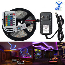 5m 300 Led StripFlexible Light 5050  + Wifi RGB Controller +12V 2A Power Adapter