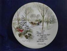 Robert Laessig AWS Collector Plate Christmas 1974 Winterscene Series Made Japan