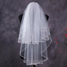 1.5M Two Layer Wedding Veil Garden Veils With Comb High Quality White Ivory LAN