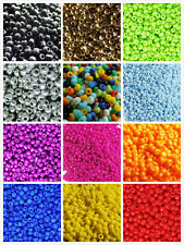1000pcs 2mm 15g Czech Glass Seed Round Loose Opaque Colored Beads Jewelry Making