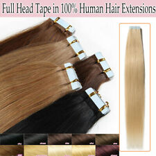 """Tape in Skin Weft 100% Remy Real Human Hair Extensions 16-22"""" 50-100G AU Express"""