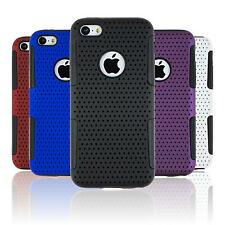 Hybrid Case for Apple iPhone 5c mesh  Cover + protective foils