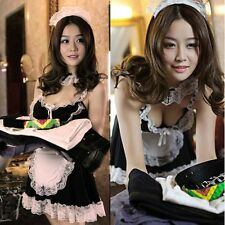 Hot Sexy Women French Maid Halloween Costume Lingerie Cosplay Outfit Fancy Dress