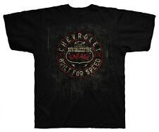 CHEVY CHEVROLET PERFORMANCE BLACK DISTRESSED 100% PRE-SHRUNK COTTON TEE SHIRT