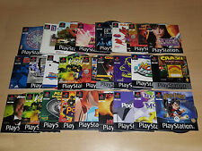 Sony PS1 Games (UK PAL DISCS WITH MANUALS) Big Selection