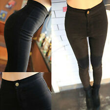 Hot Womens High Waist Bodycon Washed Pants Trousers Casual Tight Pants Denim