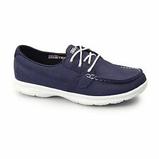 Skechers GO STEP - RIPTIDE Ladies Womens Goga Max Cushion Casual Boat Shoes Navy