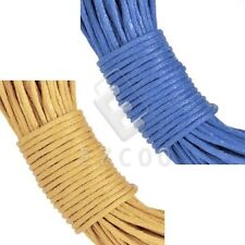 20M Waxed Cotton Cord Wire Bracelet Necklace Jewelry Findings 1mm Blue Yellow