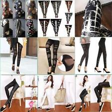 Women Sexy Mesh Gothic Legging Slim Black Punk Rock Elastic Cross Bandage Pants