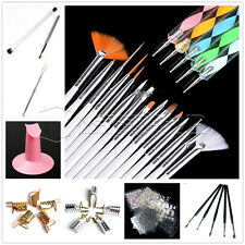 Nail Art Pen Brush Buffer Files Clipper Display Wheel Sticker Tape Decoration