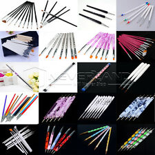 Latest UV GEL Acrylic Nail Art Tips Design Dotting Painting Pen Polish Brush Set