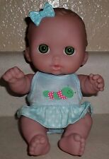 "BERENGUER LIL CUTESIES  8 1/2""  VINYL BABY DOLL MY SWEET LOVE  GREEN EYES"