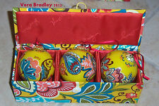 Vera Bradley Fabric Box Ornament Trio - Portobelo Road or Provencal New MSRP $30